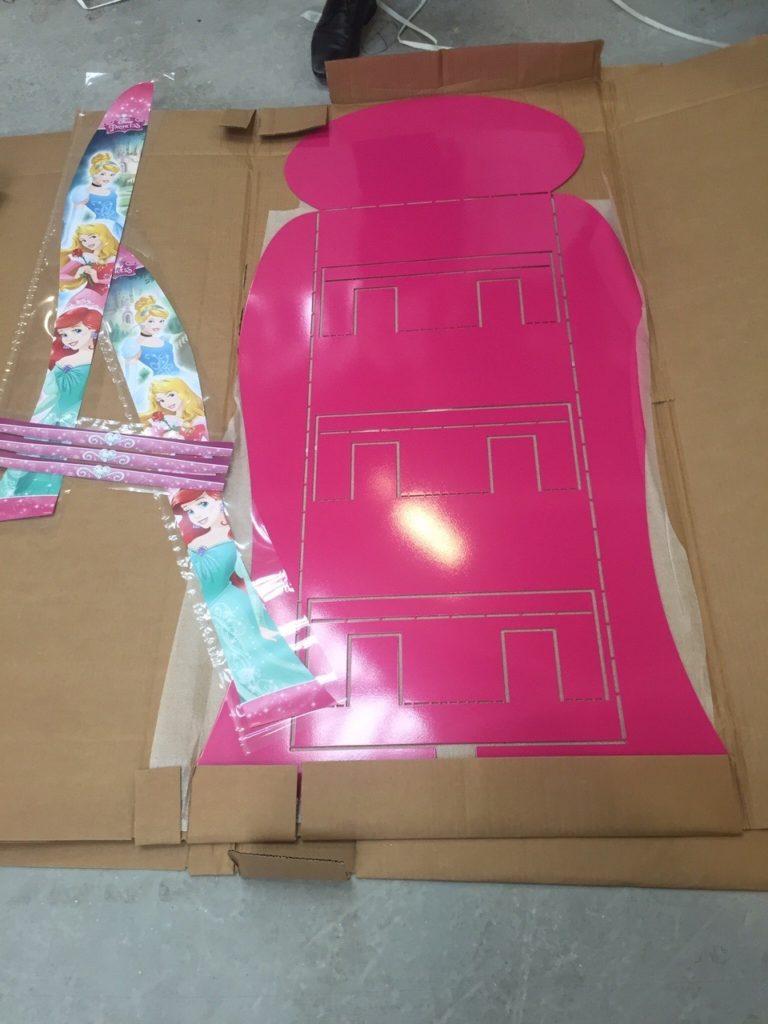 A Pink L Model flat.